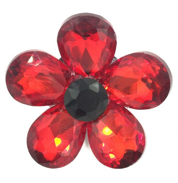 Luxury glass remembrance poppy brooch 37mm - 18mm x 13mm beads £2.00